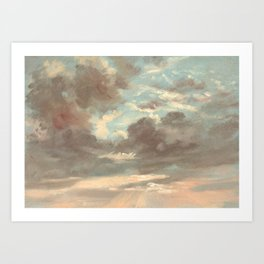 Cloud Study by John Constable 1821 Art Print