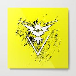 Team Yellow Metal Print