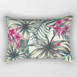 Tropical leave pattern 9.1 Rectangular Pillow