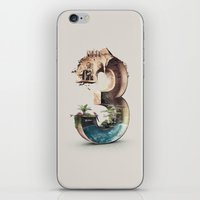 number iPhone & iPod Skins featuring Number 3 by Kevin Roodhorst