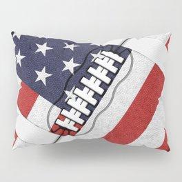 4th of July American Football Fanatic Pillow Sham