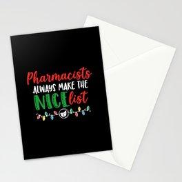Christmas Pharmacist, Pharmacy nice list Stationery Cards