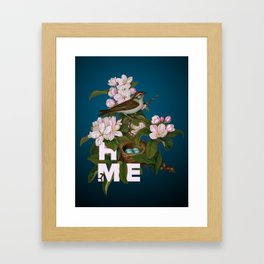 Digital Collage That Reminds Us Of Home Back In The Nest Framed Art Print
