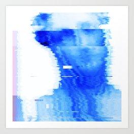 blue statue Art Print