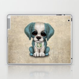 Cute Puppy Dog with flag of Guatemala Laptop & iPad Skin