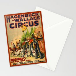 Vintage Circus poster Stationery Cards
