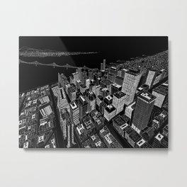 San Francisco 1 in BW Metal Print