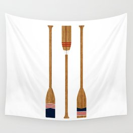 American Painted Oars Wall Tapestry