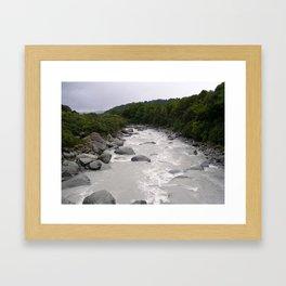Glacial Stream Framed Art Print