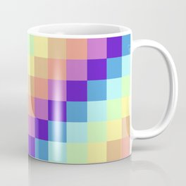 Diagonal Pixel Colorful Coffee Mug