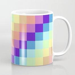 Diagonal Pixel Colorful Coffee Mug