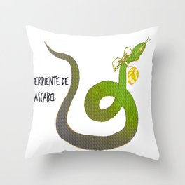 Serpiente de cascabel Throw Pillow