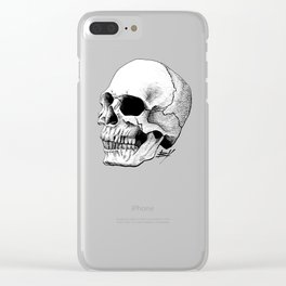 Dire Skull - A Macabre Warning Clear iPhone Case