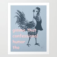 humor Art Prints featuring humor by botitta