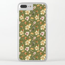 WATERCOLOR FLORAL Clear iPhone Case