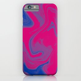 Bisexual Pride Abstract Marbled Colors iPhone Case