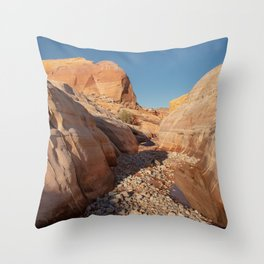 After the Rain - I, Valley_of_Fire Canyon, NV Throw Pillow