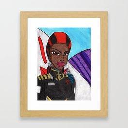 Portrait of a Starship Captain Framed Art Print