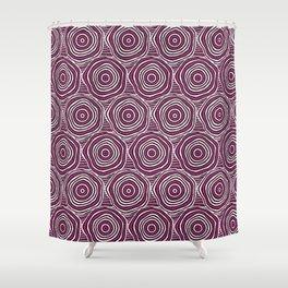 Primal Circle (Fuchsia) Shower Curtain