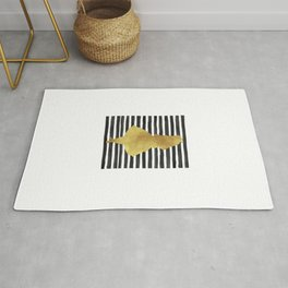 Alice black and gold. Rug