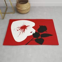 Red Mask and Rose Rug