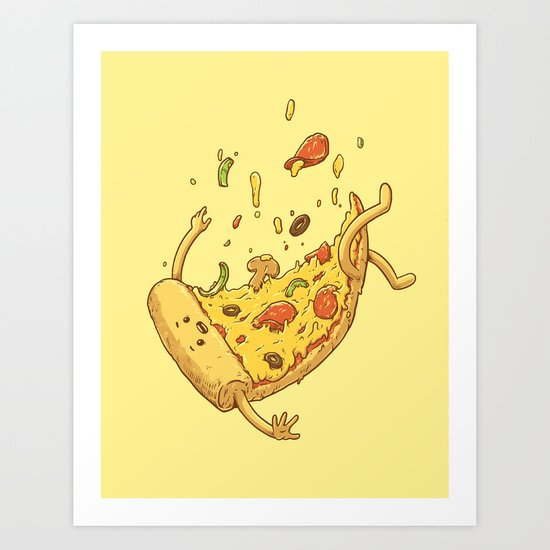 Pizza Fall Art Print By Sandwichme Society6