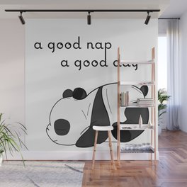 the sleeping panda Wall Mural