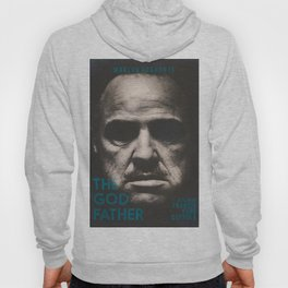 The Godfather, minimalist movie poster, Marlon Brando, Al Pacino, Francis Ford Coppola gangster film Hoody