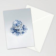 Gzhel Skull Stationery Cards