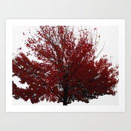 Tree on Canvas Art Print
