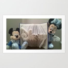 PeekABoo With Mickey And Minnie Art Print