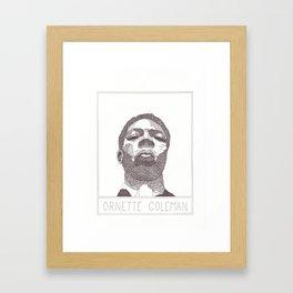 Ornette Coleman's Portrait Framed Art Print