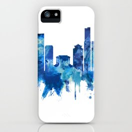 Hanoi Vietnam Skyline Blue iPhone Case