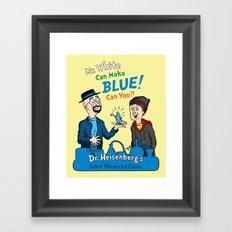 Mr. White Can Make Blue! Framed Art Print