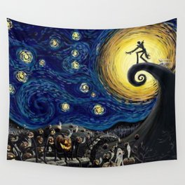 Starry (Nightmare Before Christmas) Night Wall Tapestry