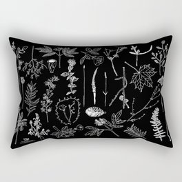 Nature Botanical Drawings by young kid artists, profits are donated to The Ivy Montessori School Rectangular Pillow