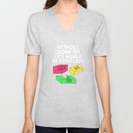 Funny Pointless T-Shirt Design GEOMETRY Unisex V-Neck