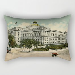Library of Congress Washington DC 1900s Rectangular Pillow