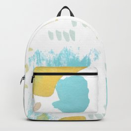 Summer blue yellow abstract Backpack