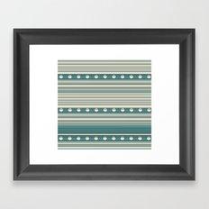 Grey and Blue Framed Art Print