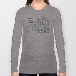 New York City Map Long Sleeve T-shirt