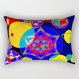 A Galaxy of Stars, Cubes and Planets Rectangular Pillow