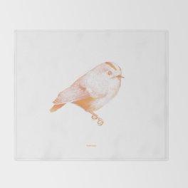 Goldcrest (Regulus regulus) - orange and yellow Throw Blanket