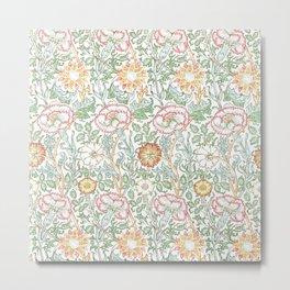 """William Morris """"Pink and Rose"""" 1. Metal Print"""
