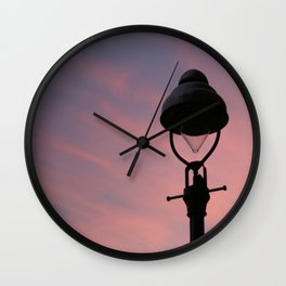 peach street light Wall Clock