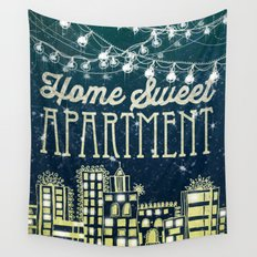 Home Sweet Apartment Wall Tapestry