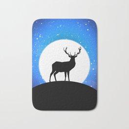 Deer and Moon Bath Mat