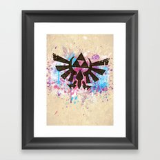 Splash Triforce Emblem Framed Art Print