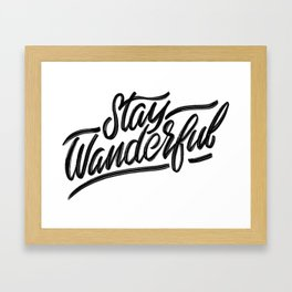 Stay Wanderful Framed Art Print
