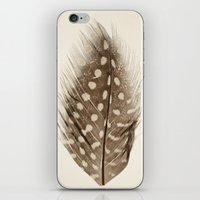 feather iPhone & iPod Skins featuring Feather by Mina Teslaru